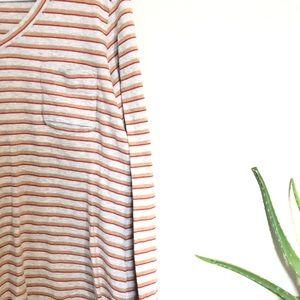 Cabi Hi-Lo, Longsleeve, Stripped Shirt